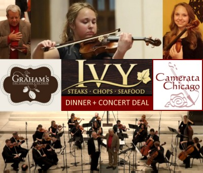 "Vivaldi Four Seasons with a Graham's Fine Chocolate gift and a special dinner and concert deal ""Veuve & Vivaldi"" at the Ivy on October 20"