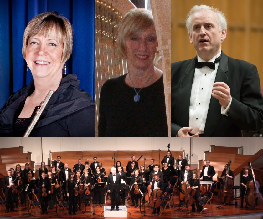 2019-04 Mozart Concerto for Flute & Harp with Susan Taylor and Faye Seeman
