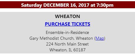 Concert Details December 16, 2017